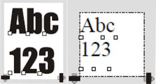 Paragraph text dan artistic text dengan shape tool