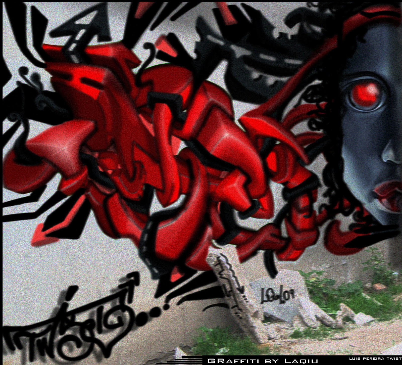 Laqiu Design By Luis Pereira Twist Graffiti 3d Wildstyle Lq Laqiu