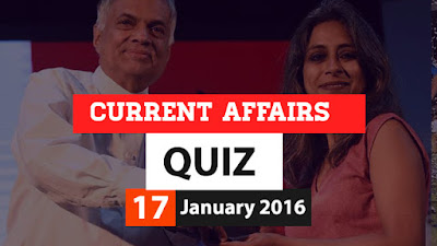 Current Affairs Quiz 17 January 2016