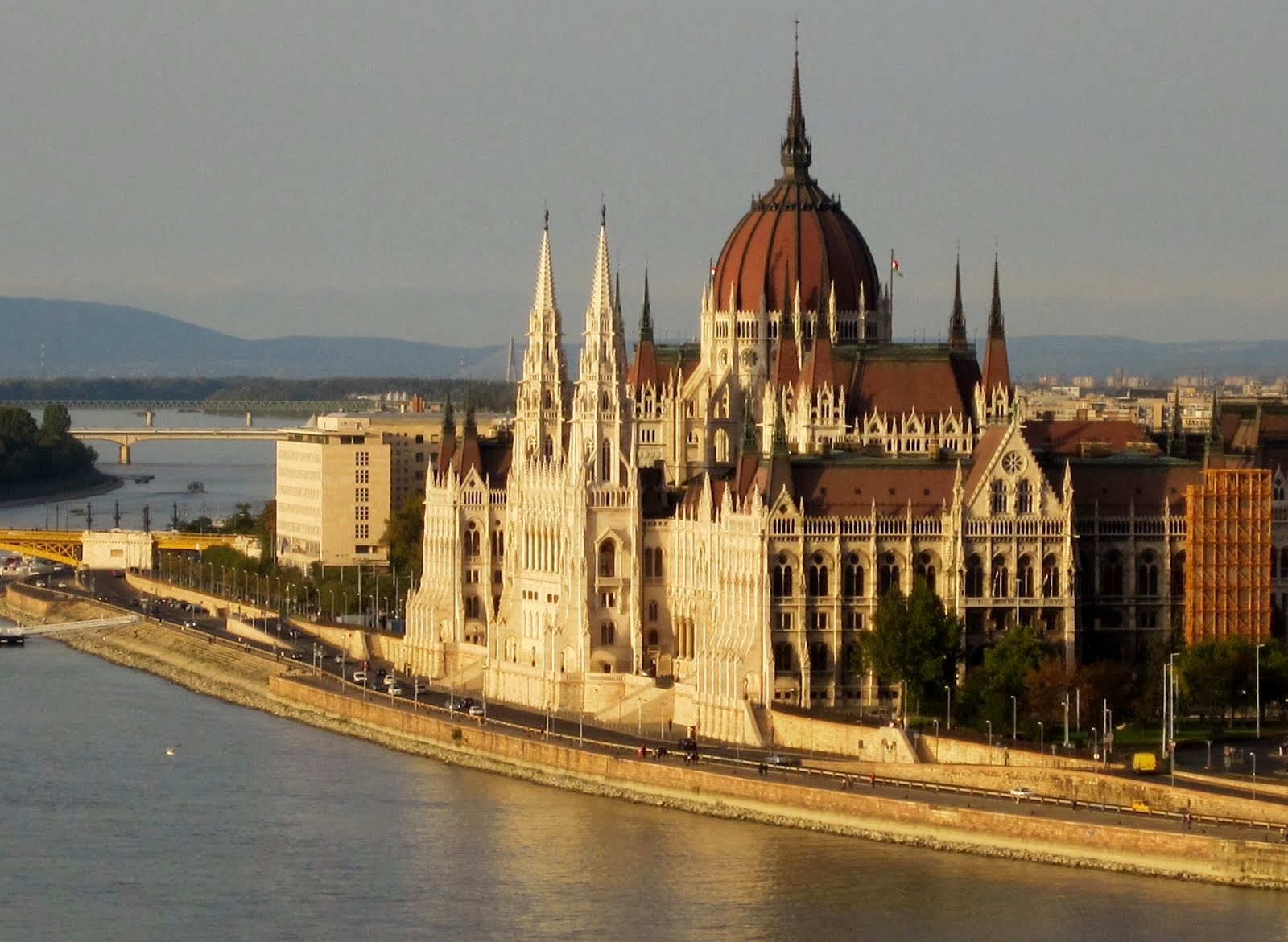 View of the Parliament building from Buda Castle--Budapest