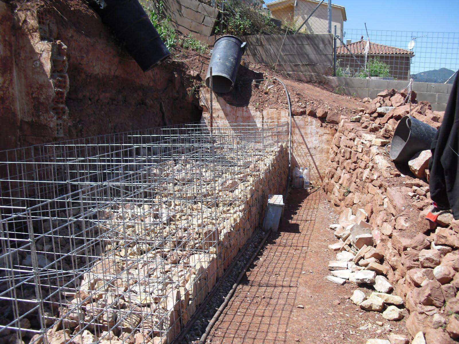 Nuestra casa contenedor muro grande de gaviones - Muros de gavion ...