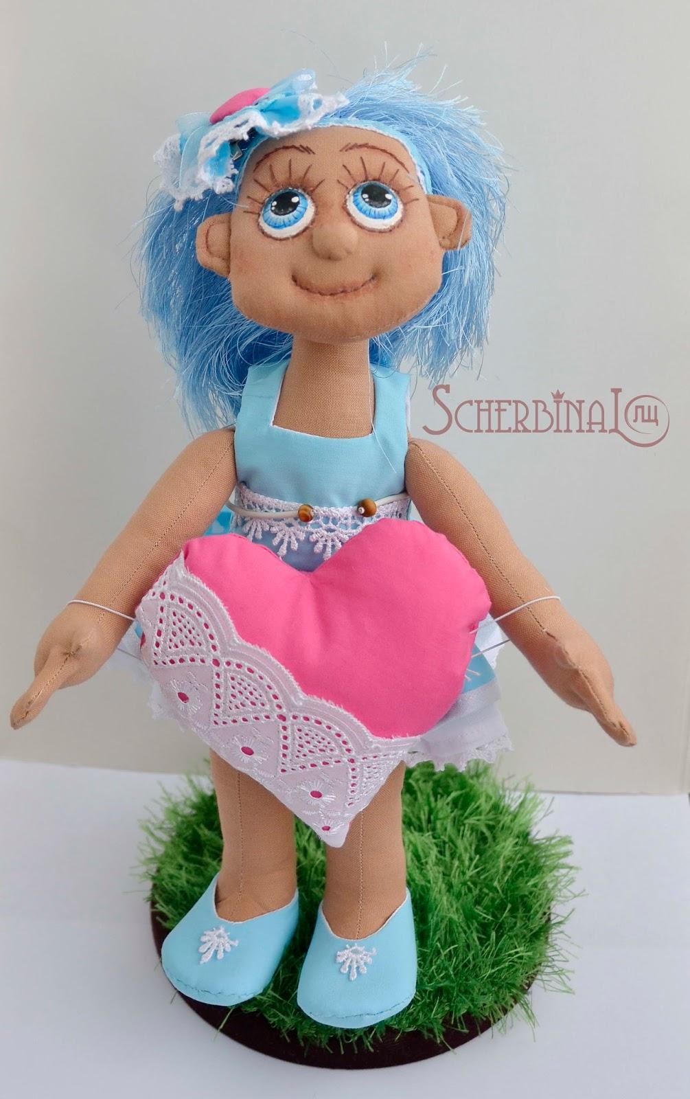 кукла карамелька, Валентинка, игрушки ручной работы