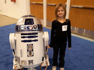 Little Miss with R2D2