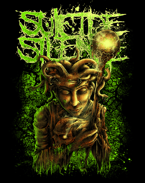 medusa design for suicide silence   kakak lung art