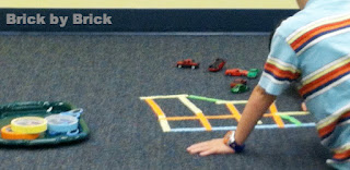 Masking Tape Roads for Cars (Brick by Brick)