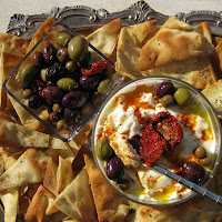 Labneh (Yogurt Cheese) with Pita Chips