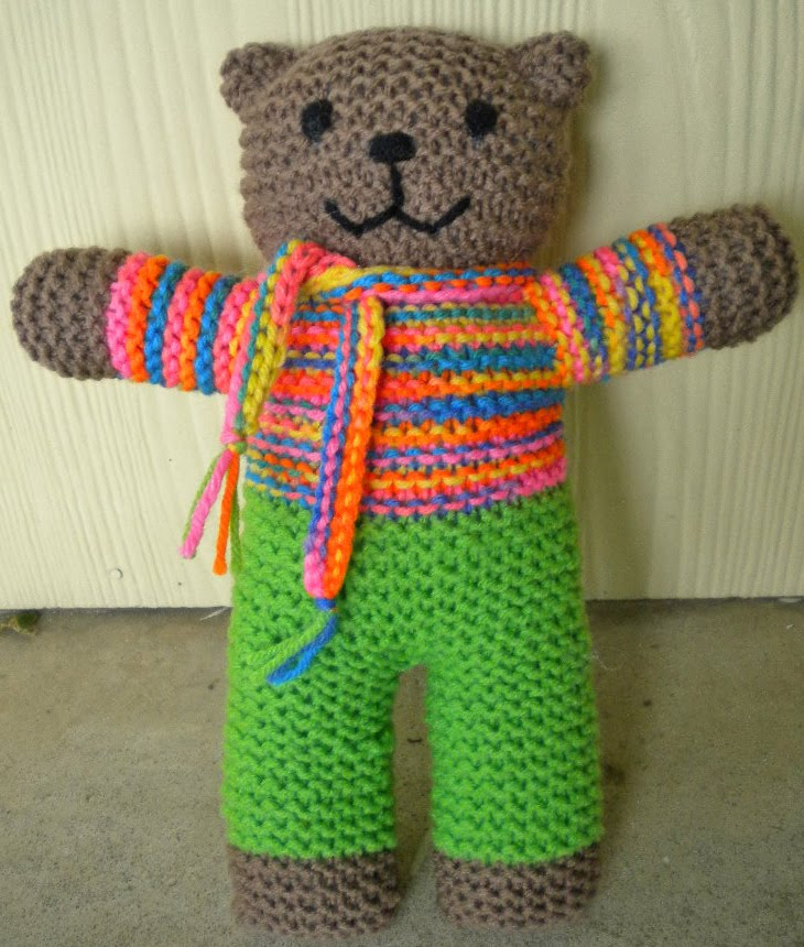 Knitted Teddy Bear Pattern For Charity : YARNGEAR: Knitting, Crochet, Spinning, Sewing, Weaving, and Dyeing: Mother Be...