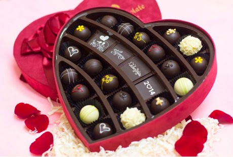 Tạo hình socola - chocolate hình trái tim