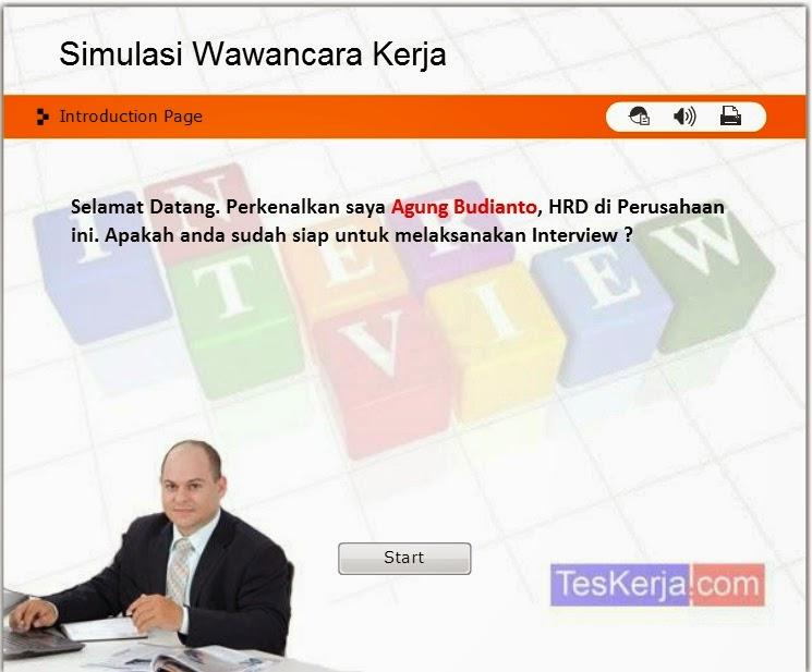 Aplikasi / Software Simulasi Wawancara Kerja Online
