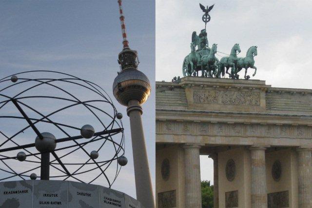 Alexanderplatz y Puerta de Brandeburgo en Berlin