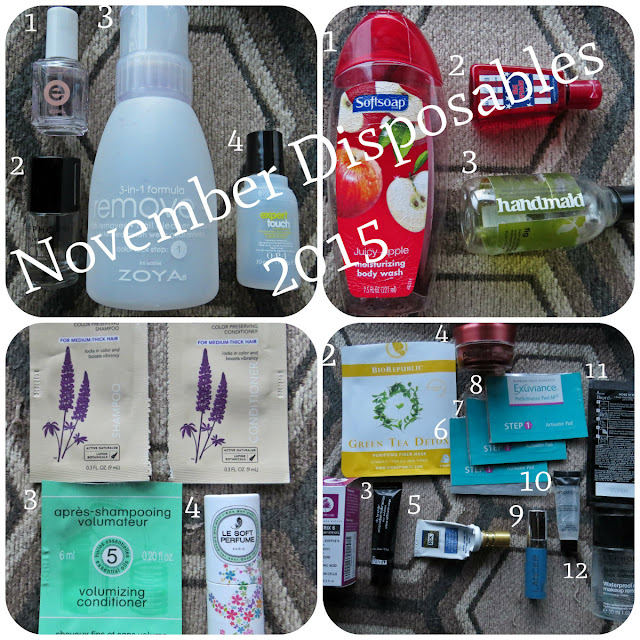 November 2015 Disposables
