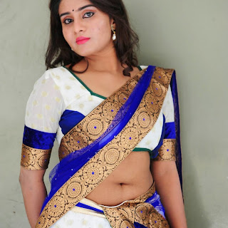 actress harini latest cute hot exclusive half saree navel