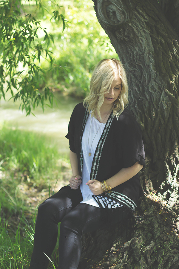 Confidence Is Silent // Black Kimono