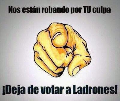 Un pueblo que vota a corruptos no es victima, es cómplice