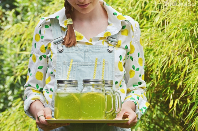 summer drink | rezept für hausgemachte zitronen-basilikum-limonade | basil lemonade recipe | luzia pimpinella