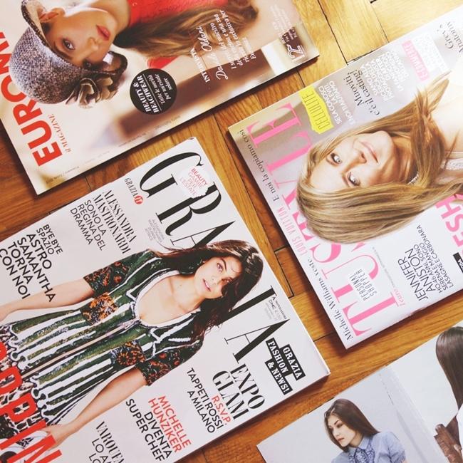Instagram @lelazivanovic #glamfabweek.Italian fashion magazines: Grazia + Tu Style.Italijanski modni casopisi.