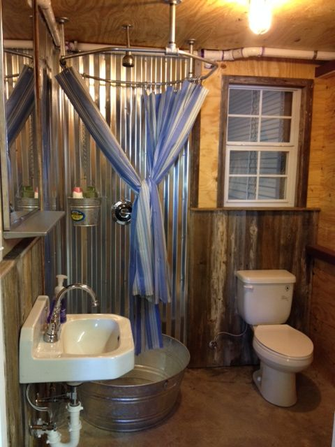 Off grid galvanized Shower Tub. Offgrid Life  Off grid galvanized Shower Tub