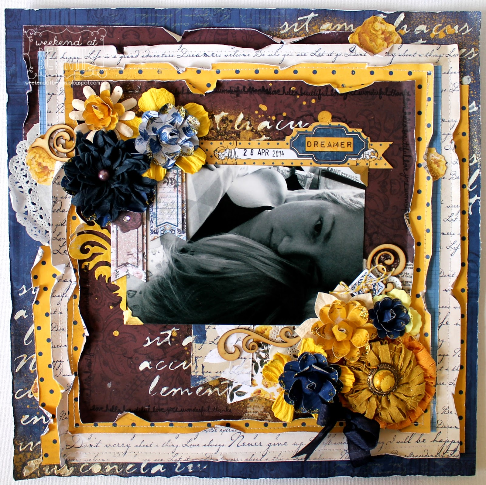 Dreamer layout by Bernii Miller using the Rose Cafe collection by BoBunny.