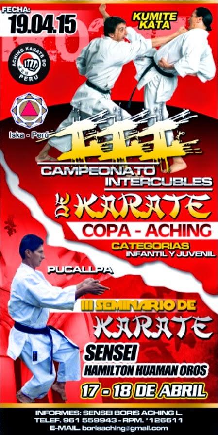 III CAMPEONATO DE KARATE INTERCLUBES   Pucallpa-Perú