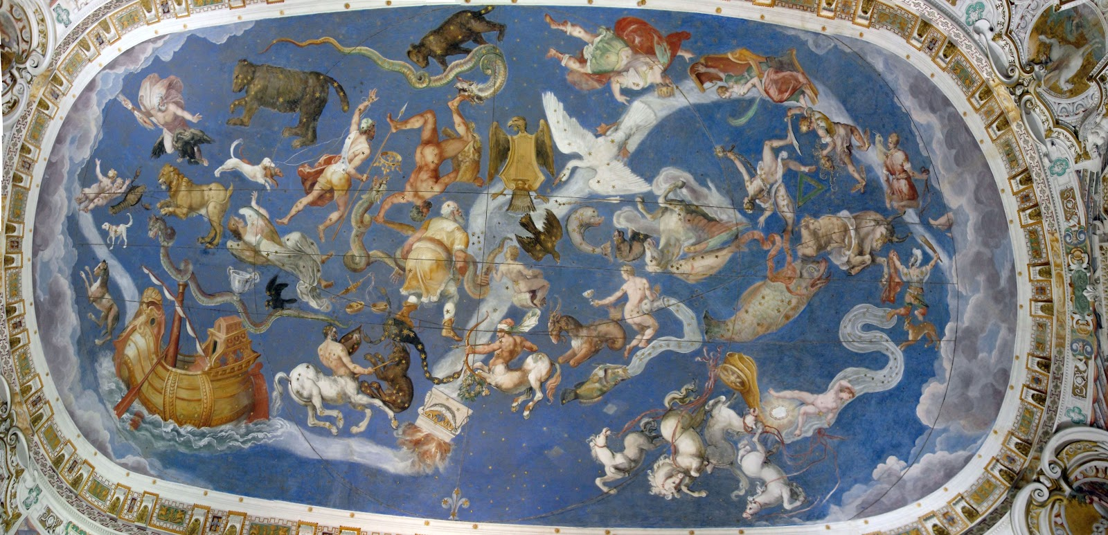 Ciao from italy villas and gardens for Constellation ceiling mural