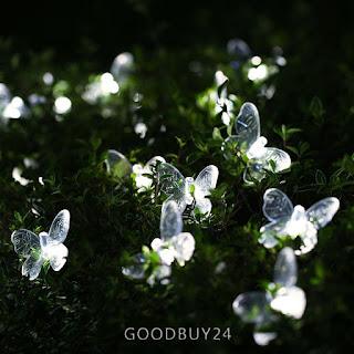 striscia luci giardino a forma di farfalla immagine