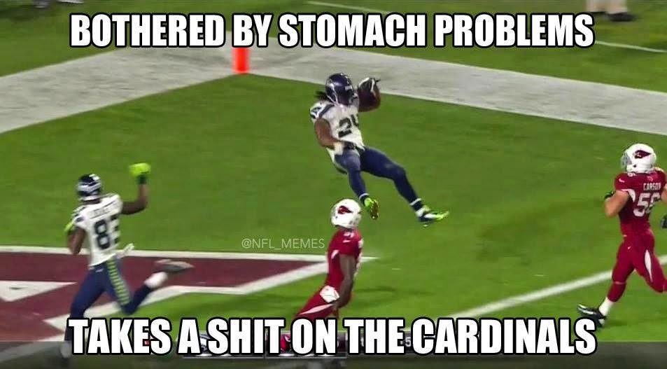 bothered by stomach problems takes a shit on the cardinals