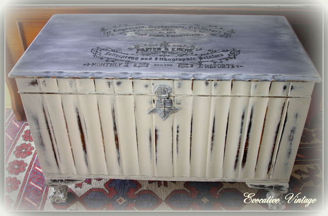 French inspired blanket chest makeover