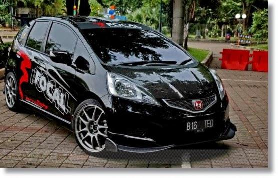 Modifikasi mobil honda jazz rs 2005 2006 2012 20132014 hitam vtec sport ceper keren
