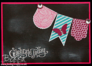 Celebrate Today Chalkboard Technique Card Featuring the Hearts a Flutter Stamp Set by Stampin' Up! Demonstrator Bekka Prideaux - this card featured in one of her classes