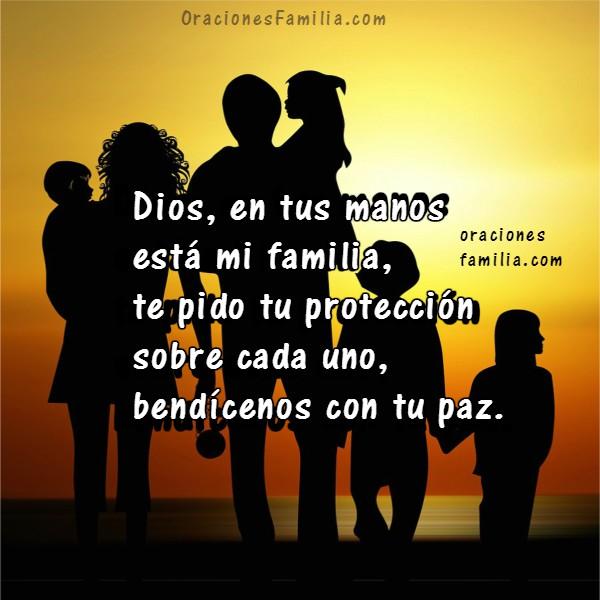 Frases cortas con oración por protección de hijos, familia, buenos días o buenas noches con oraciones a Dios por Mery Bracho, orar por hijos.