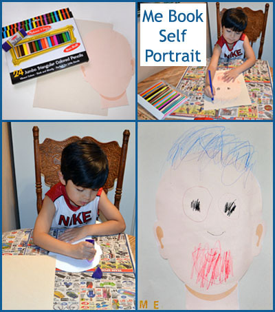 Self Portrait for kids Me Book