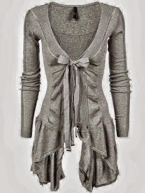 Ribbed asymmetric hem cotton cardigan