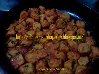 Soya Sukha Sabzi
