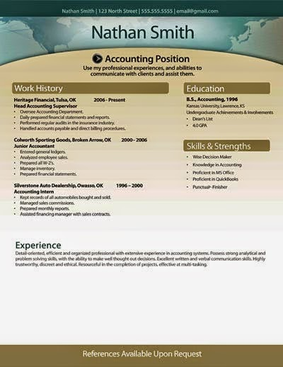 Resume Examples : Modern Yellow Background with Header | Basic ...