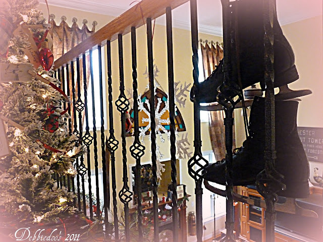 bbbbbb Decorating the banister for the Christmas Holiday!