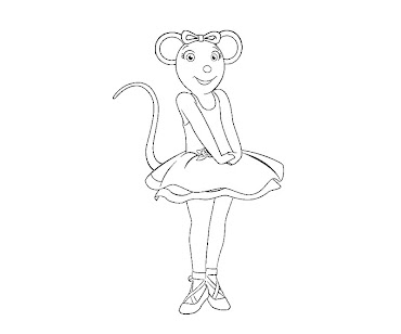 #5 Angelina Ballerina Coloring Page