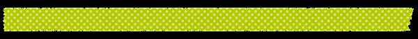 マスキングテープのイラスト「黄緑ドット」
