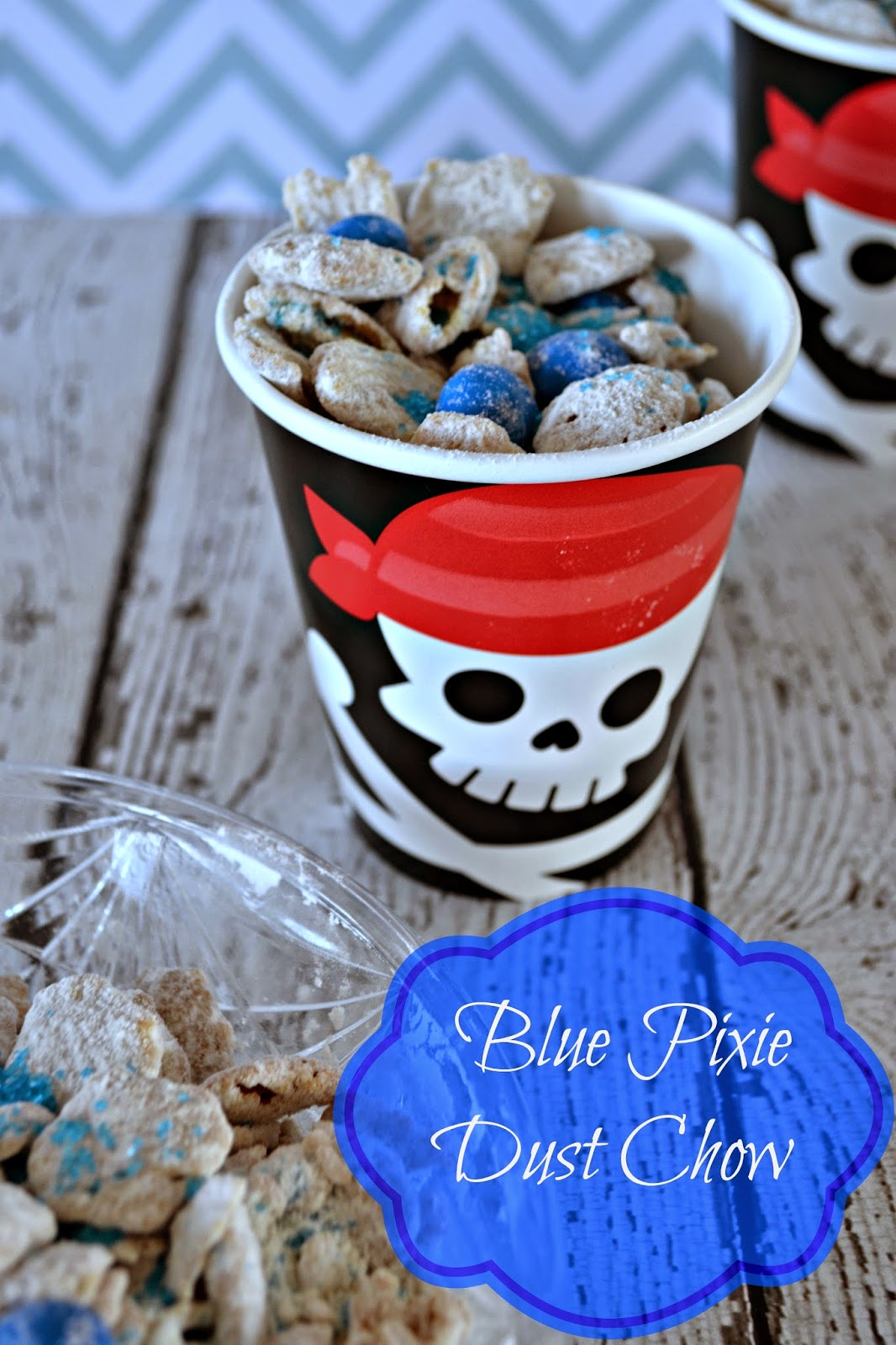 Easy Puppy Chow Recipe The Pirate Fairy DVD Release - Blue Pixie Dust Chow #Recipe - #ProtectPixieHollow #shop