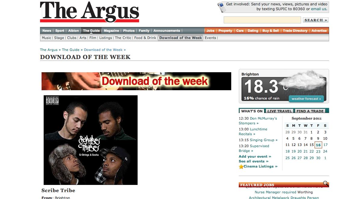zramrecords evening argus download of the week 16 09 11. Black Bedroom Furniture Sets. Home Design Ideas