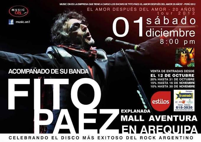 Fito Paez en Arequipa (01 dic)