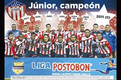 Junior se coronó Campeón de la Liga Postobon II 2011