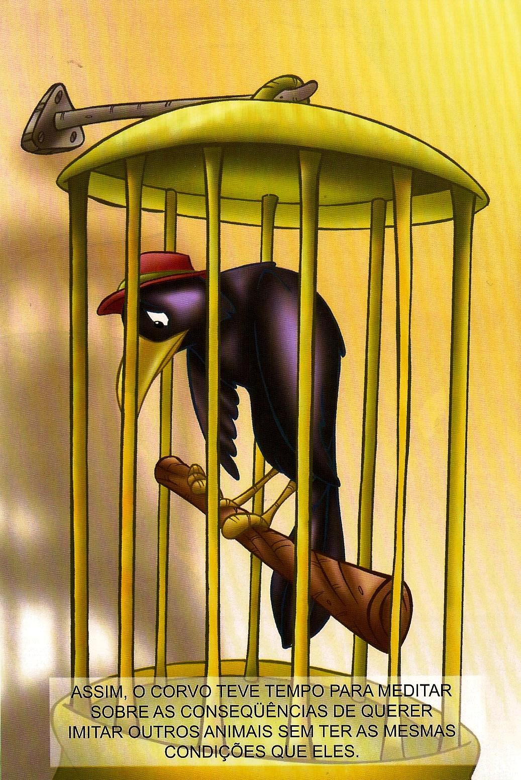 nossa bibliotequinha o corvo que quis imitar a Águia