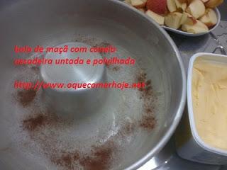 Bolo de maçã com canela, de liquidificador