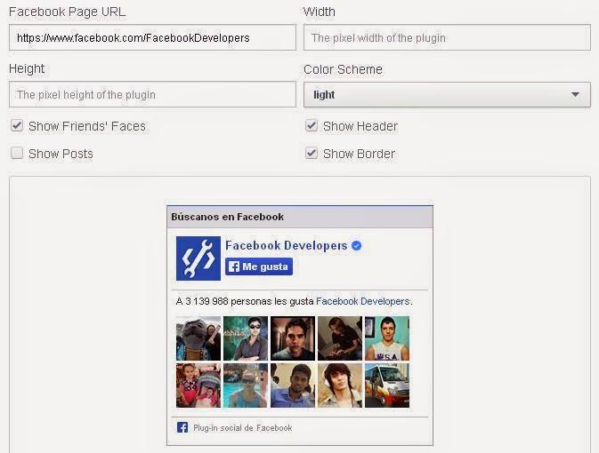 Como incluir la caja con el botón me gusta en mi web para una página de Facebook