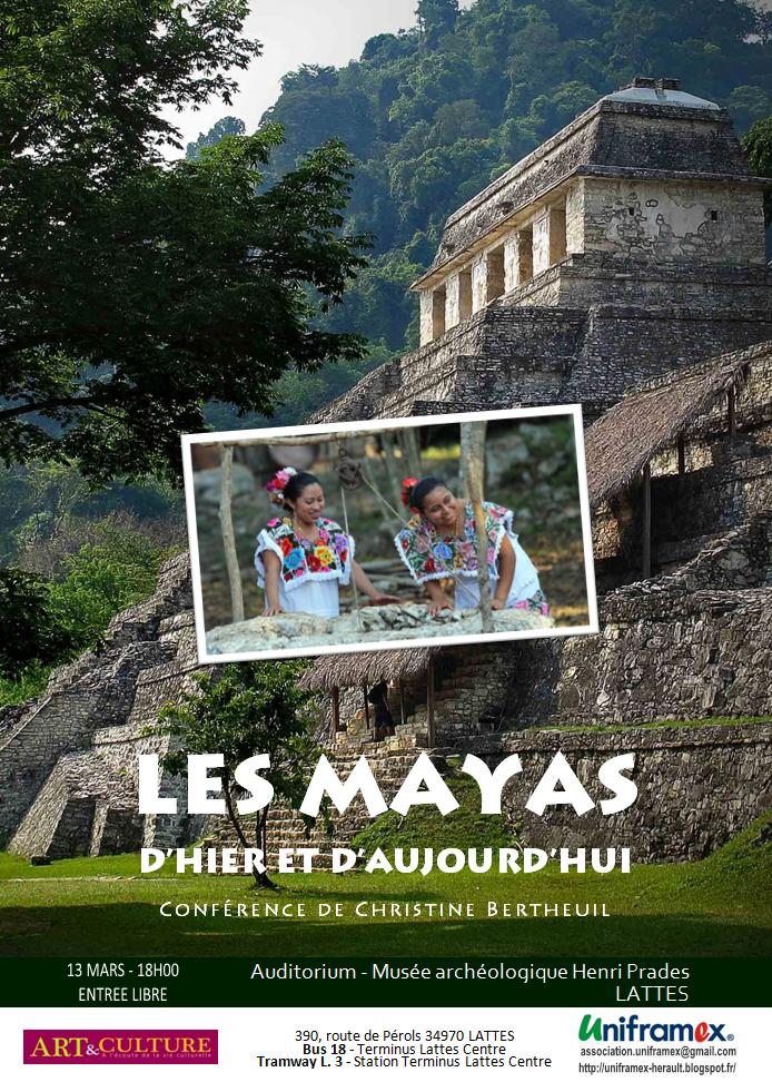 Conférence - Les mayas d'hier et d'aujourd'hui