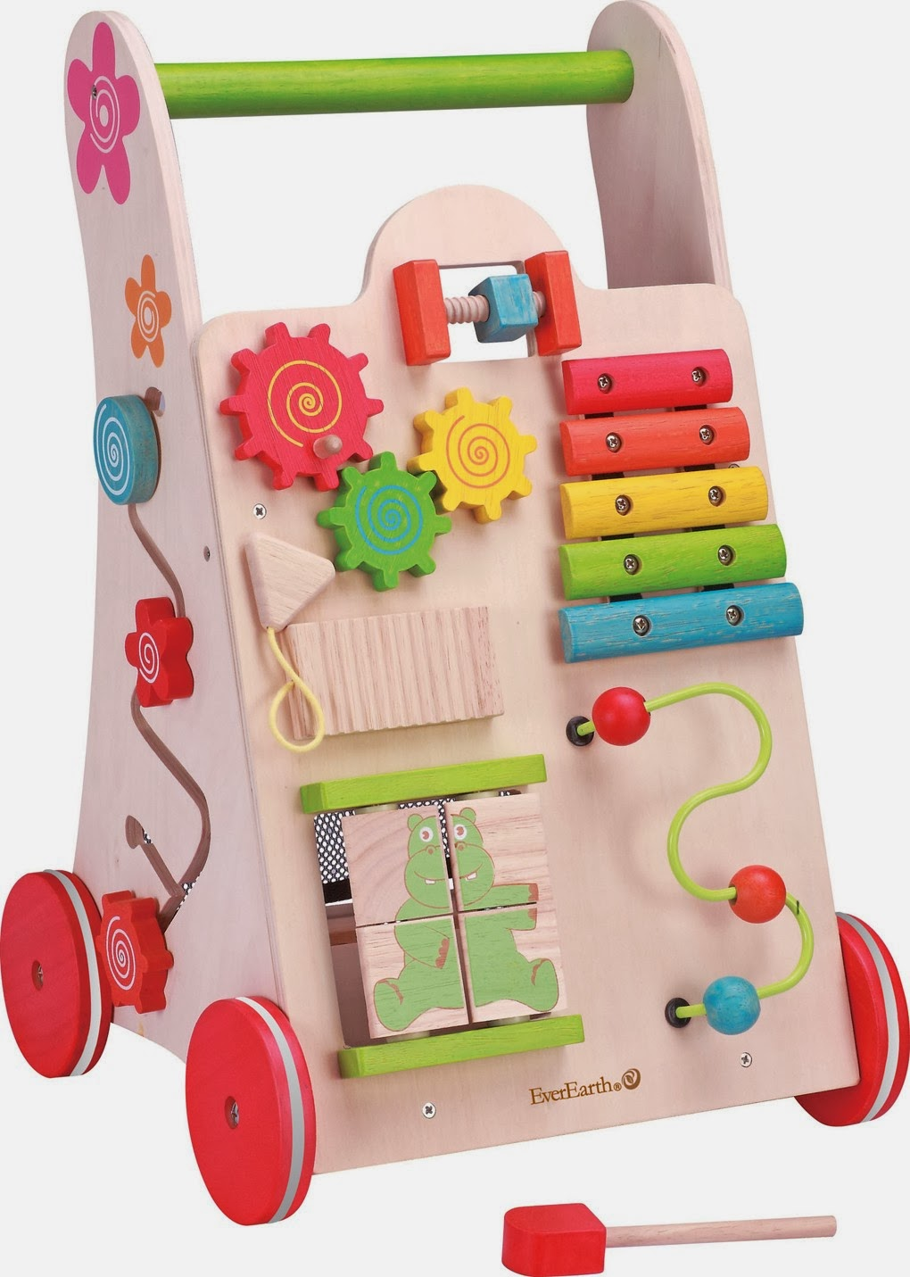 Toddlers Wooden Activity Walker yY EverEarth
