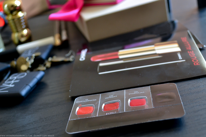 Chanel Rouge Allure Intense Lipstick - Passion - Review Swatches FOTD