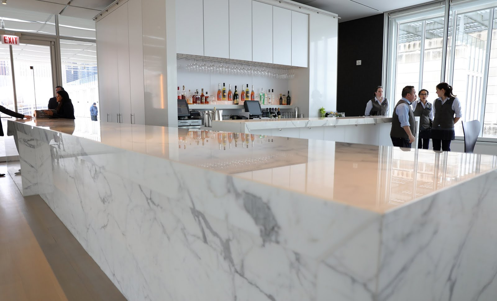 The sleek and clever materials in the space continue on by the bar where the white marble sits heavy yet acts as another surface to reflect the light in ... & TSM 2015 BAC LIGHTING DESIGN: Perception in Lighting - A Moment in ... azcodes.com