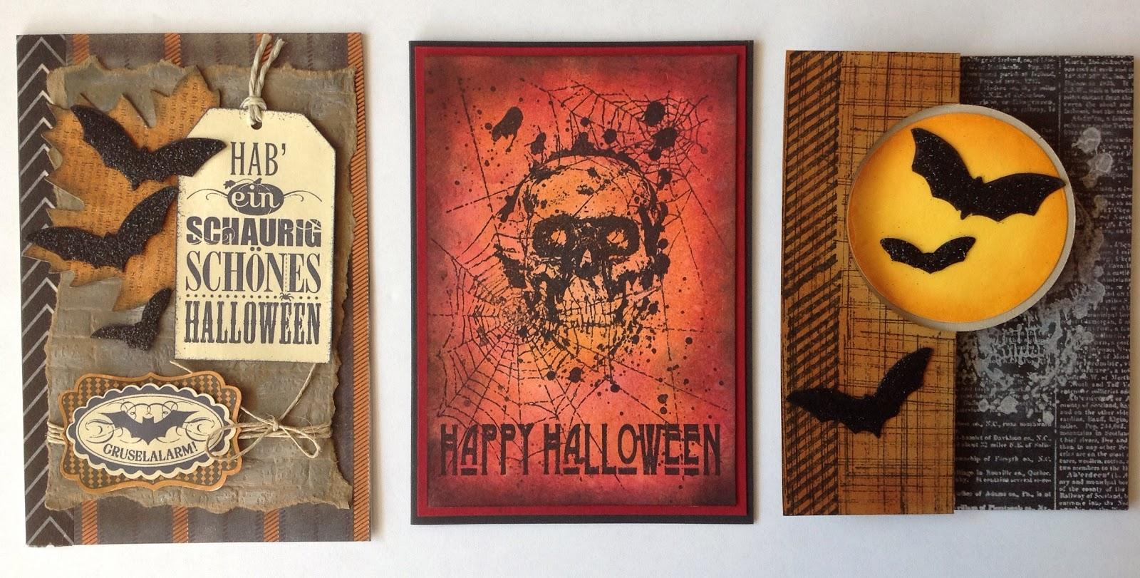 Halloweenkarten mit Stampin`up, La Blanche und Tim Holtz
