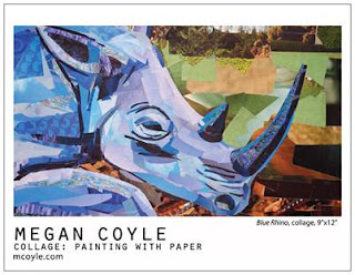 Blue Rhino by collage artist Megan Coyle